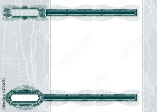 Blank layout for banknote or voucher