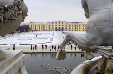 shonbrunn palace in vienna - winter