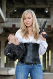 Woman bounty hunter poster