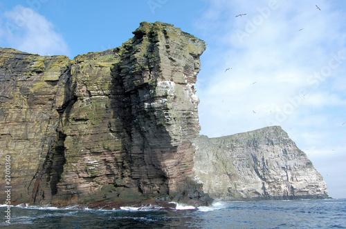 Klify wybrzeża Wielkiej Brytanii, Szetlandy