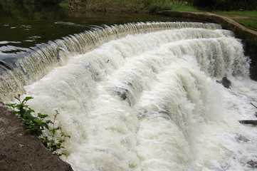 Weir on River Wye Monsal Dale
