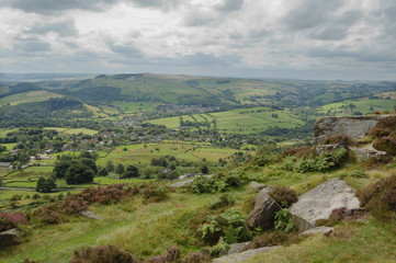 Curbar from Froggatt Edge