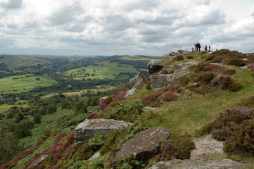 Looking over Froggatt Edge