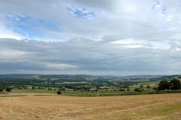View across fields Derbyshire