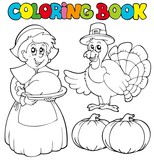 Coloring book Thanksgiving theme