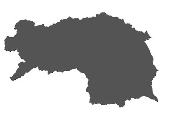 Karte der Steiermark - isoliert