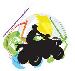 Sportsman riding quad bike