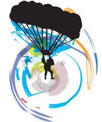 Paragliding illustration