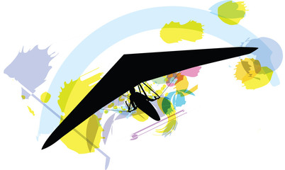 Hang Glider. Vector Illustration