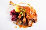 Fototapety gänsebraten,knödel,rotkraut/roast goose