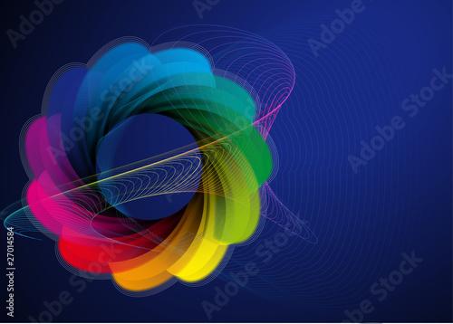 Rosette in Spektralfarben II