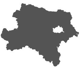 Karte von Niederösterreich - isoliert