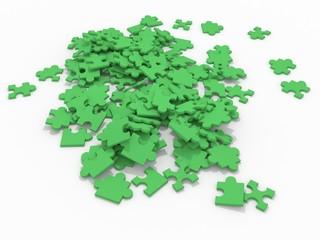 3d puzzle mess