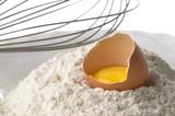 Flour, whisker and egg poster