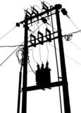 Electric transformer substation poster