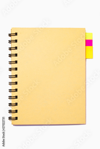 small notebook isolated