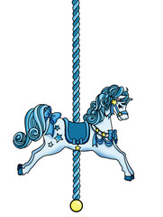 Blue Star Pony