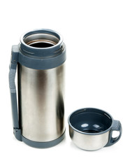 Steel thermos with cup insulated