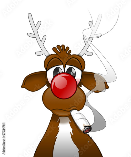 Rudolph smoking a joint