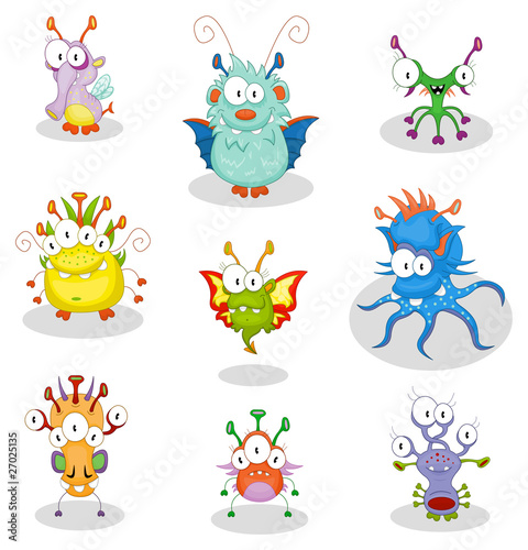 Cartoon monsters for Halloween or other events