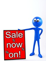 Ben d'Man - next to red Sale on now sign