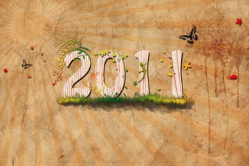 2011 Naturgrunge Background