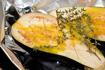 Auberginen gebacken