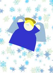 Angelo nella neve