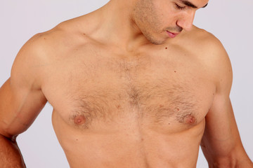 Topless Young Man. Model Released