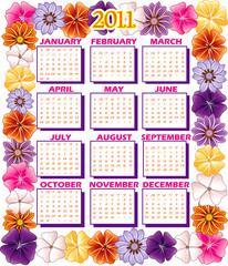 2011 Calendar Flower Border