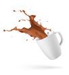 chocolate drink splash
