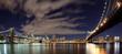 New York City skyline panoramic at night