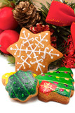 Assorted cookies and Christmas wreath