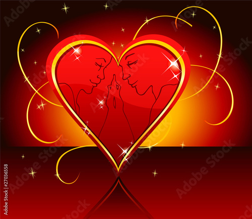 Vector illustration of set Heart