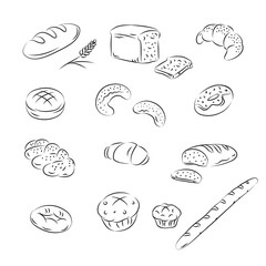 Vector Sketch Collection of bakery