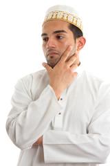 Ethnic man thinking
