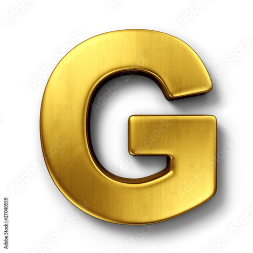 The letter G in gold