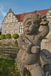 Steinfigur Musikant Schloss Weikersheim Taubertal