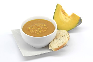 Cream of Butternut with Lentils