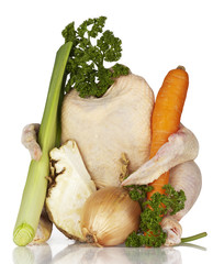 Hähnchen mit Suppengrün