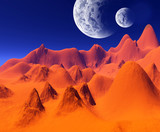 colorful space landscape