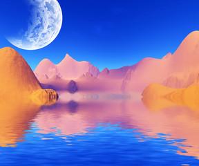 colorful desert