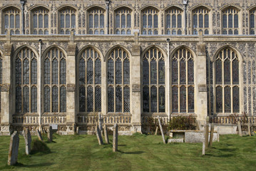 Holy Trinity Church and Graveyard in Long Melford, Suffolk.