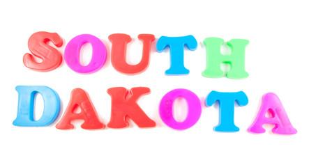 south dakota written in fridge magnets