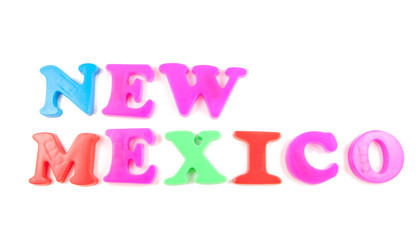 new mexico written in fridge magnets