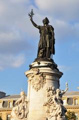 La statue de la République à Paris