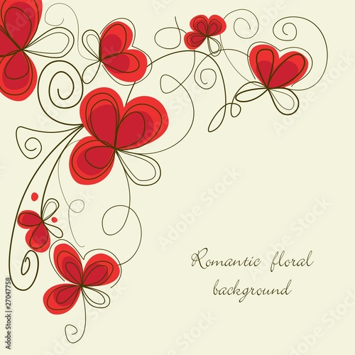 Staande foto Abstract bloemen Romantic floral corner