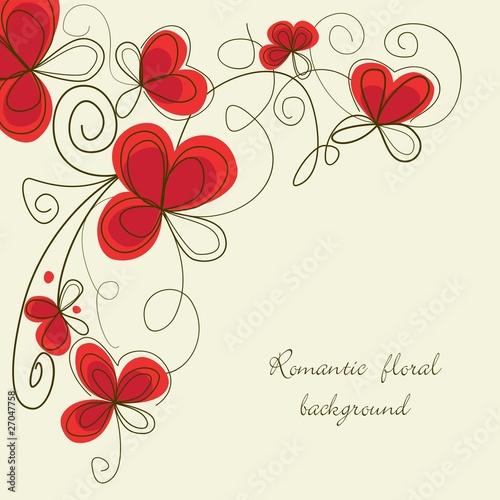 Staande foto Abstract bloemen Romantic floral corner