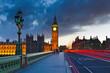 Quadro Big Ben at night, London