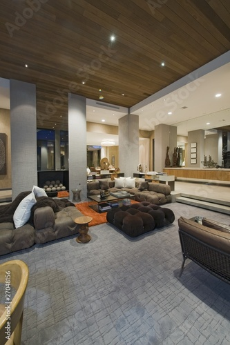 Living room of California home